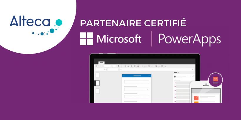 Alteca partenaire certifié Microsoft PowerApps