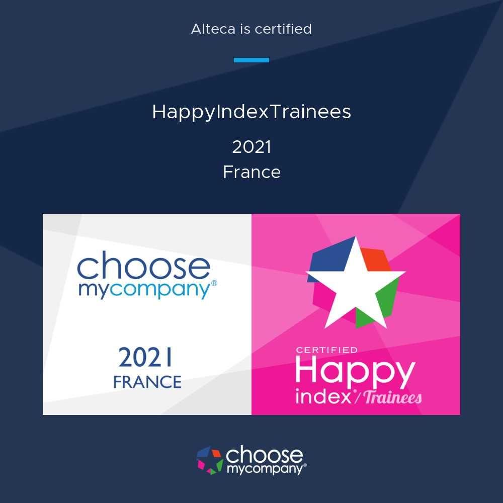 Alteca labellisée «Happy Trainees» pour la 3ème année consécutive !