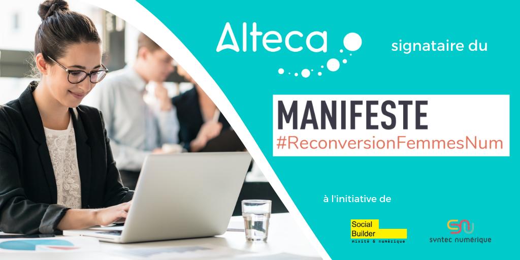 Alteca signataire du Manifeste pour la reconversion des femmes dans les métiers du numérique