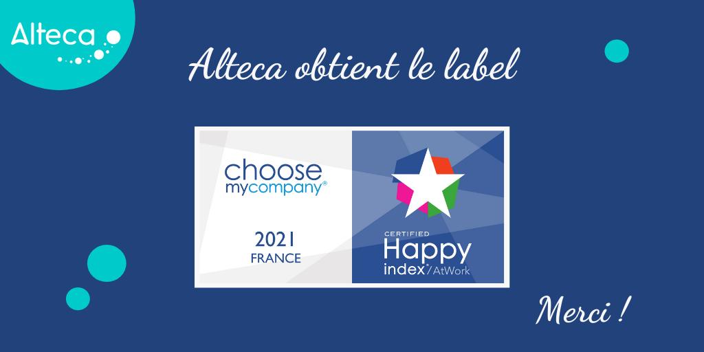 Alteca obtient à nouveau le label Happy At Work en 2021