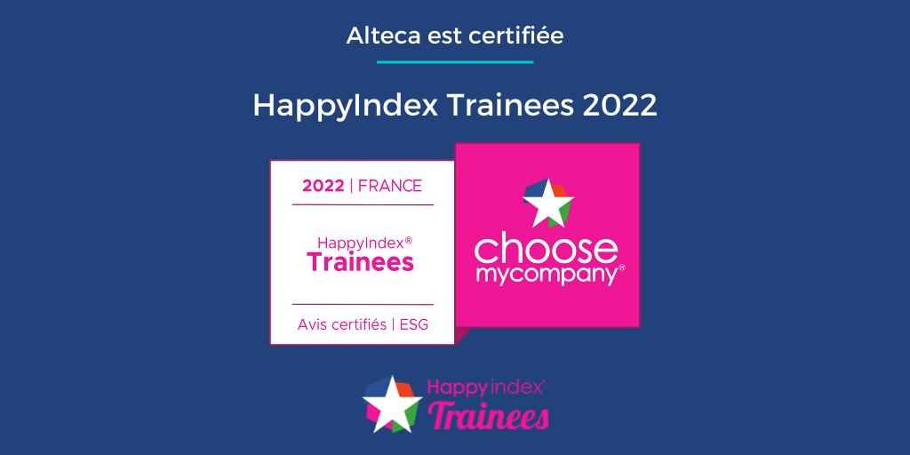 Alteca obtient le label Happy Trainees 2022